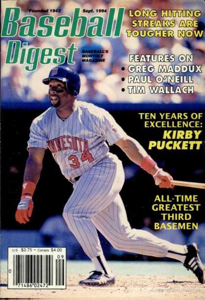 Baseball Digest - September 1994