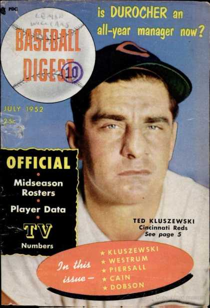 Baseball Digest - July 1952
