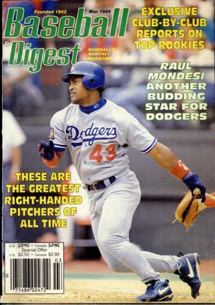 Baseball Digest - March 1995