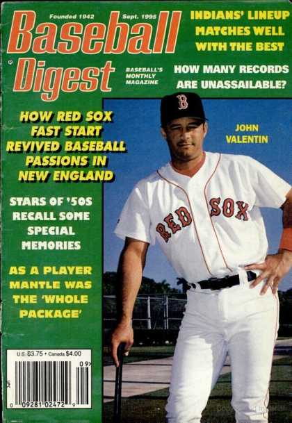 Baseball Digest - September 1995