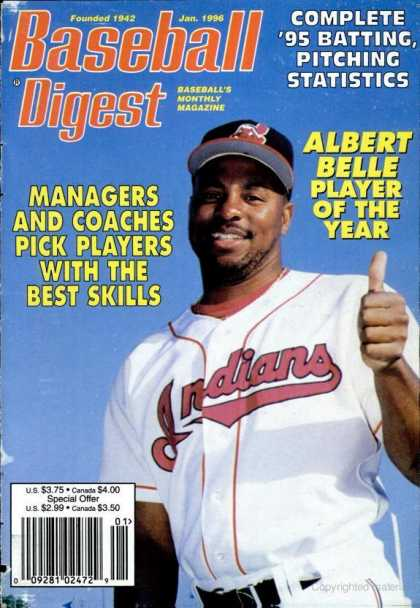 Baseball Digest - January 1996