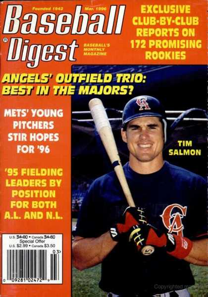 Baseball Digest - March 1996