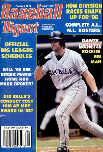 Baseball Digest - April 1996