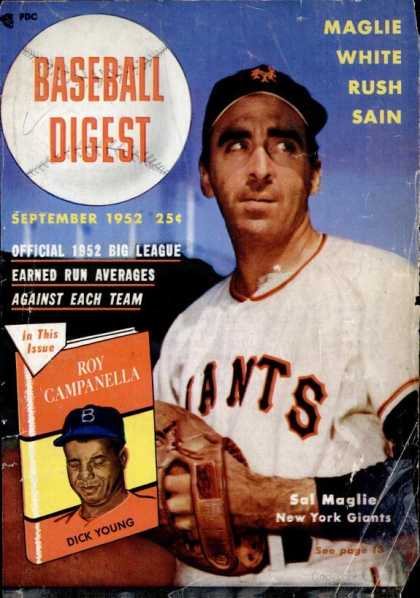 Baseball Digest - September 1952