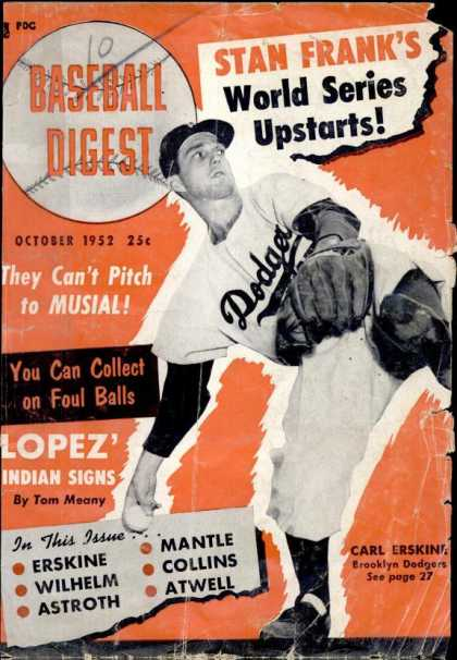 Baseball Digest - October 1952