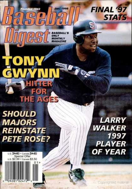 Baseball Digest - January 1998