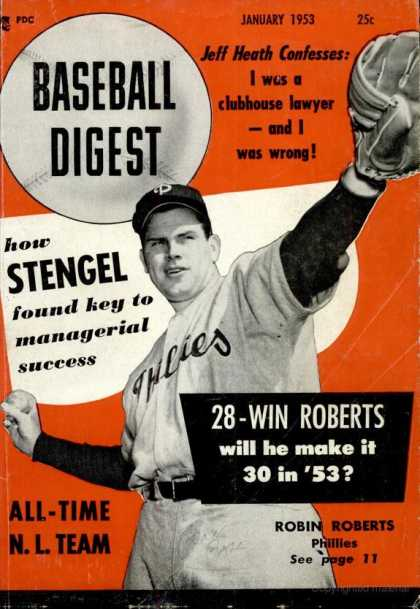 Baseball Digest - January 1953