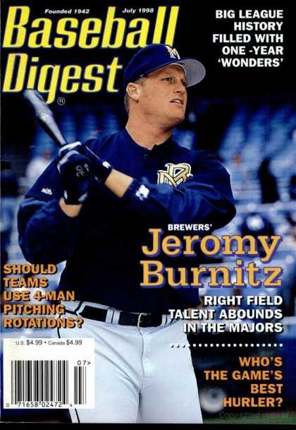 Baseball Digest - July 1998