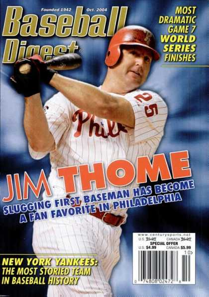 Baseball Digest - October 2004