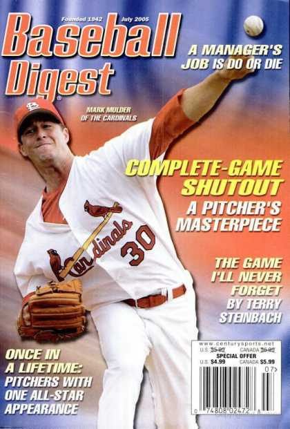 Baseball Digest - July 2005
