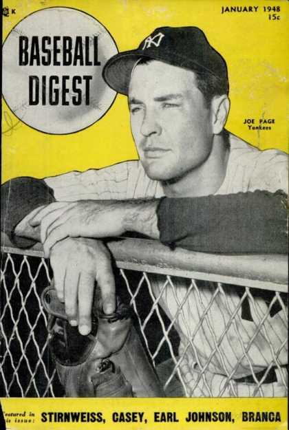 Baseball Digest - January 1948