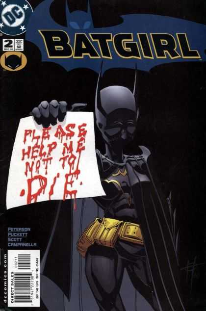Batgirl 2 - Please Help Me Not To Die - Blood - Letter - Peterson Puckett - Scott Campanella