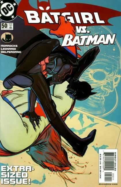 Batgirl 50 - Batgirl Fights Batman - Extra-sized Issue - Horrocks - Leonardi - Delperdang - James Jean