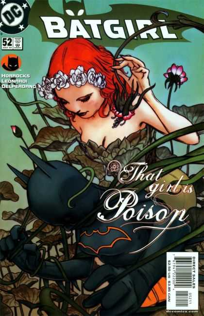 Batgirl 52 - That Girl Is Poison - White Flower Headband - Green Plants - Red Hair - Bat Emblem - James Jean