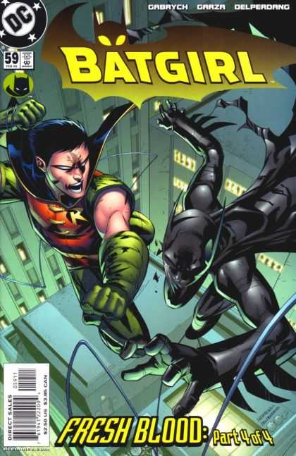 Batgirl 59 - Robin - Boy Wonder - Top Of The Building - Hand To Hand - Fistfight