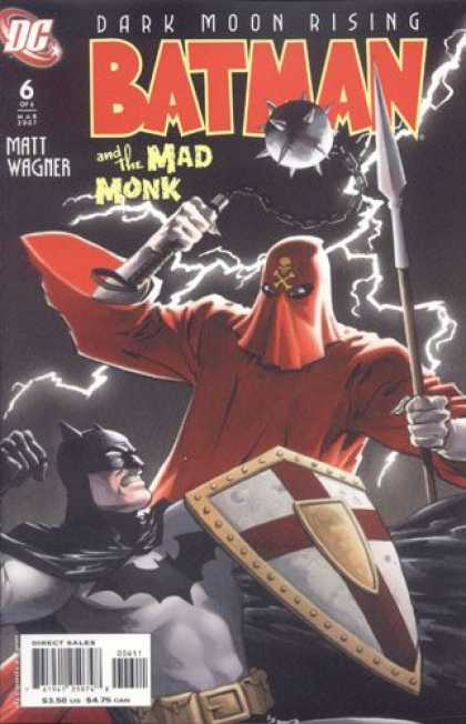 Batman and the Mad Monk 6 - Dark Moon Rising - Matt Wagner - Shield - Spear - Lightning - Matt Wagner