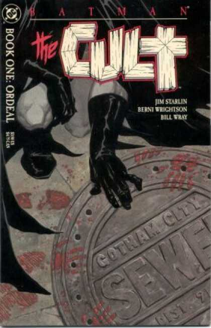 Batman: Cult 1 - Gotham City Man Hole Cover - Black Gloves - Dc - Jim Starlin - Sewer