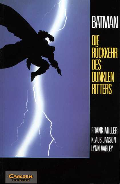 Batman (German) 3 - Lightning - Blue - Dark - Jumping - Cape
