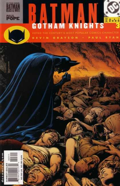 Batman: Gotham Knights 3 - Batman Black U0026 White - Paul Pope - Devin Grayson - Paul Ryan - Bodies - Brian Bolland