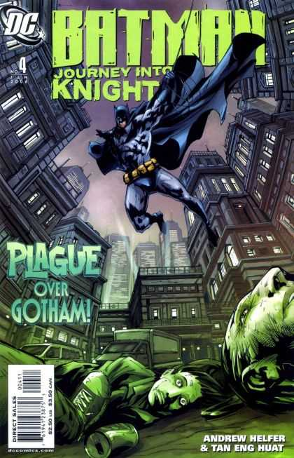 Batman: Journey Into Knight 4 - Plague - Green - Death - Skyline - Alley - Pat Lee