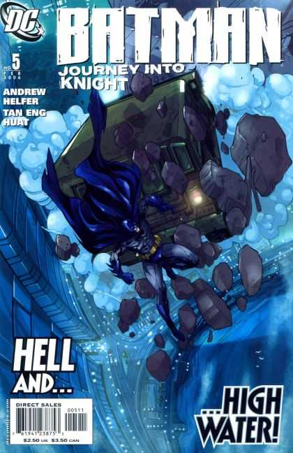 Batman: Journey Into Knight 5 - Hell Andhigh Water - Andrew Helfer - Tan Eng Huat - Falling Rubble - Batman In Peril - Pat Lee
