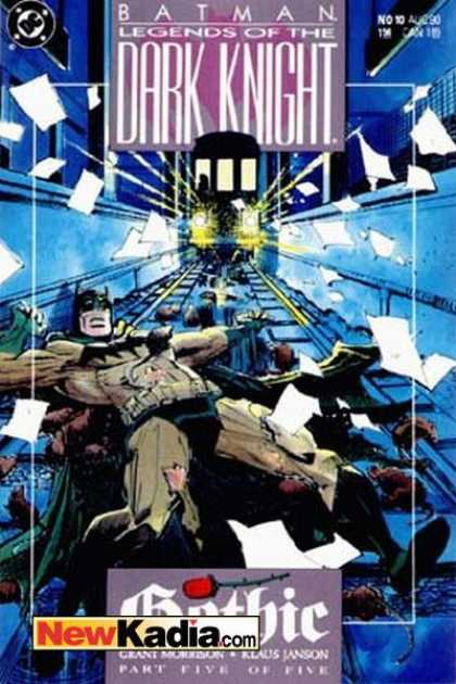 Batman: Legends of the Dark Knight 10 - Part Five Of Five - Gothic - Subway - Grant Morrison - Papers - Klaus Janson