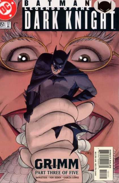 Batman: Legends of the Dark Knight 151 - Dc - Grimm - Eyeglasses - Teeth - Face - John Cassaday