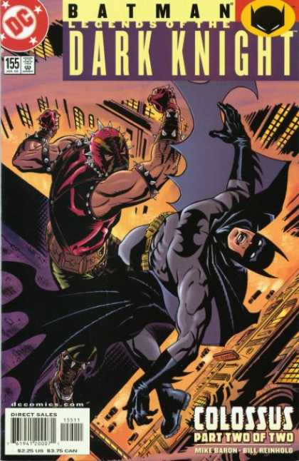 Batman: Legends of the Dark Knight 155 - No 155 - Colossus Part Two Of Two - Rooftop - Mike Baron - Bill Reinholg - Bill Reinhold