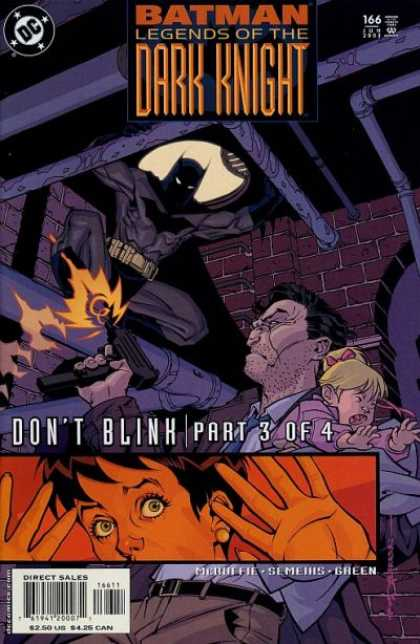 Batman: Legends of the Dark Knight 166 - Manhole Cover - Gun - Child - Dont Blink - Sewer Pipes - Brian Stelfreeze