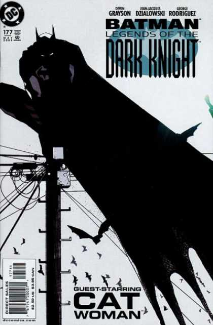 Batman: Legends of the Dark Knight 177 - Cat Woman - Telephone Pole - Bats - Wires - Sky - Mark Simpson