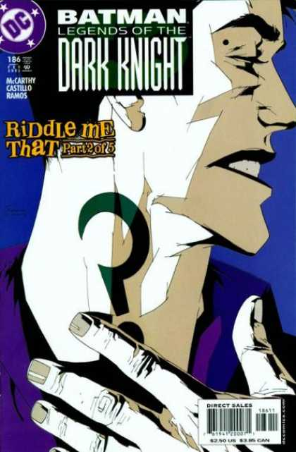 Batman: Legends of the Dark Knight 186 - Riddle - Profile - Question Mark - Neck - Hand