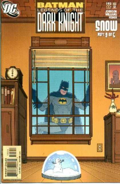 Batman: Legends of the Dark Knight 193 - Window - Snowglobe - Clock - Snow Part 2 Of 5 - Blinds - Seth Fisher