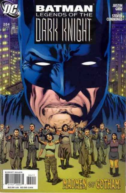 Batman: Legends of the Dark Knight 204 - People - Sombees - City - Big Blue Mask - White Eyes