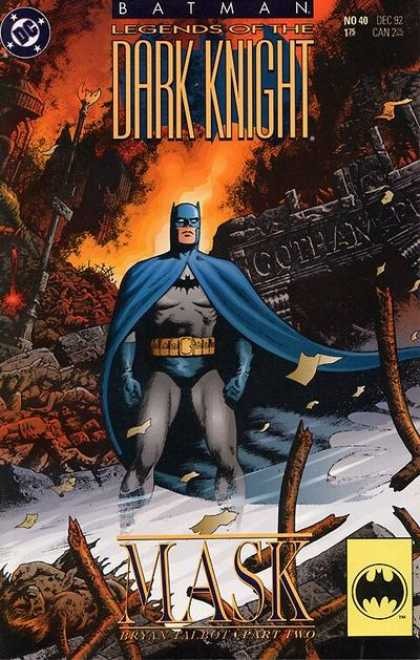 Batman: Legends of the Dark Knight 40 - Gotham City - Ruins - Alone - Caped - Bryan Talbot