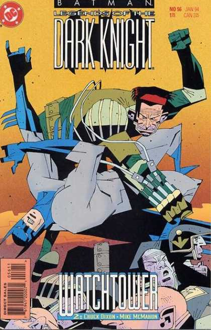 Batman: Legends of the Dark Knight 56 - No 56 Jan 94 - Chuck Dixon - Watch Tower - Mike Mcmahon - Batman Being Punched Out