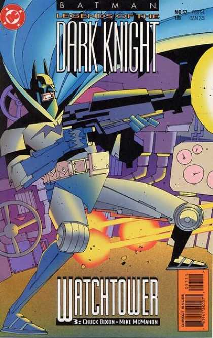 Batman: Legends of the Dark Knight 57 - Superhero - Robot - Gun - Watchtower - Chuck Dixon