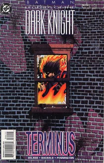 Batman: Legends of the Dark Knight 64 - Fire - Window - Brick Wall - Batman - Shadow - Chris Bachalo