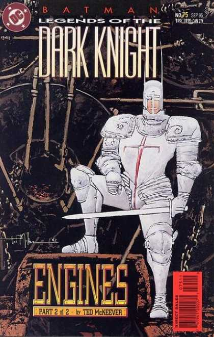 Batman: Legends of the Dark Knight 75 - Armor - Black - White - Sword - Cross - Ted McKeever
