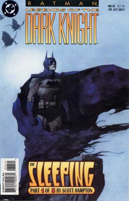 Batman: Legends of the Dark Knight 76 - The Sleeping - Part 1 Od 3 By Scott Hampton - Bats Flying - Black Cape - Haze - Scott Hampton