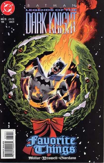 Batman: Legends of the Dark Knight 79 - Christmas Special - Outter Space - Snowing - Superhero - Batman On Fire
