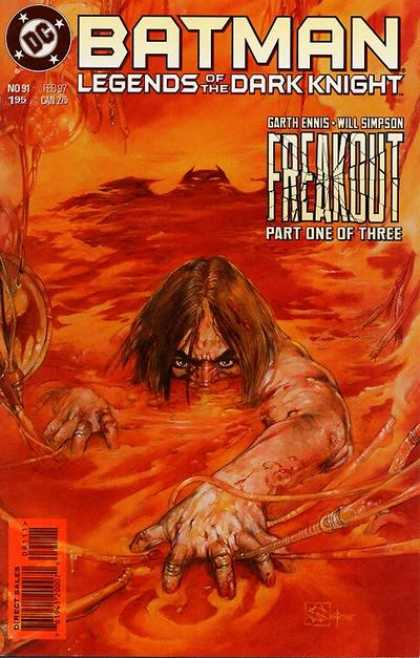Batman: Legends of the Dark Knight 91 - Freakout - Part One Of Three - Swimming In Orange Water - Garth Ennis - Will Simpson - William Simpson