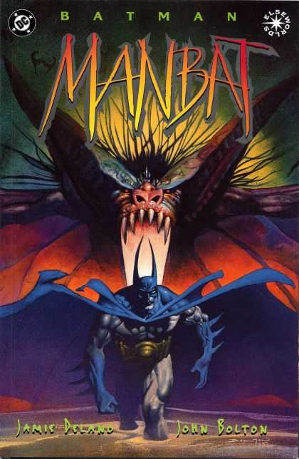 Batman: Manbat 1 - Jamic Deland - John Bolton - The Cover Showes About The Batman Running Away From This Place - This Cover The Manbat Is Most Powerfull Devil - Who Will Win Atlast I Dono