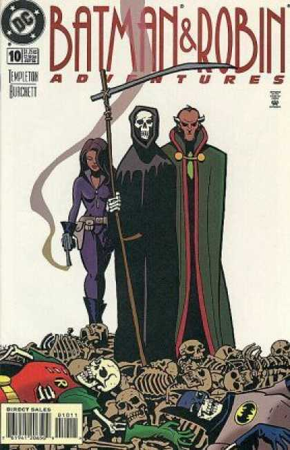 Batman & Robin Adventures 10 - Skeleton - Death - Ras Al Ghul - Violet - Black