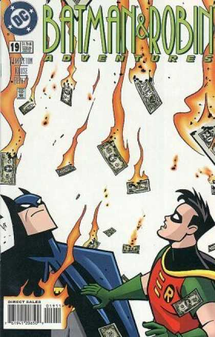 Batman & Robin Adventures 19 - Dc - Cash - Money - Flames - Dollars