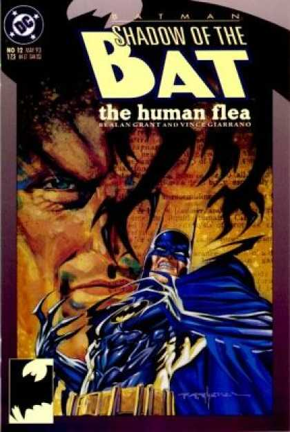 Batman: Shadow of the Bat 12 - Dc - The Human Flea - Superhero - Blue Eyes - Half Face - Brian Stelfreeze