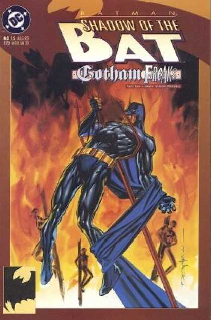 Batman: Shadow of the Bat 15 - Gotham Freaks - Fire - Dc - Burning - Cape - Brian Stelfreeze
