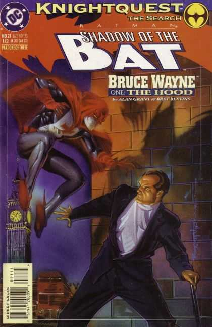 Batman: Shadow of the Bat 21 - Dc Comics - Bruce Wayne - The Hood - Knightquest - Clock Tower - Brian Stelfreeze
