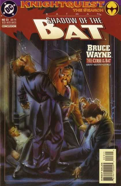 Batman: Shadow of the Bat 23 - Dc - Bruce Wayne - Knightquest - January - Curse Of The Bat - Brian Stelfreeze