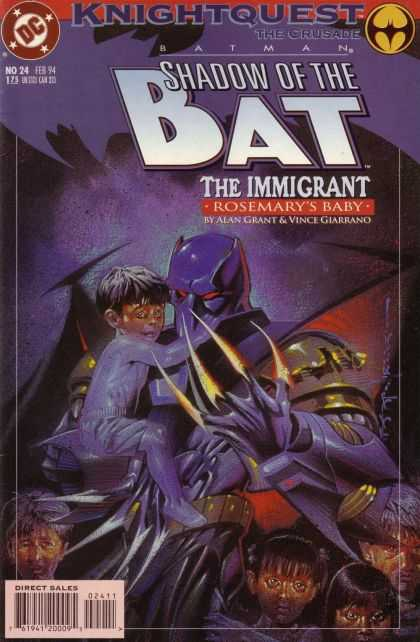 Batman: Shadow of the Bat 24 - Dc - Knightquest - The Crusade - Direct Sales - No24 - Brian Stelfreeze