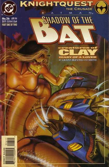 Batman: Shadow of the Bat 26 - Dc Comics - Knightquest The Crusade - Creatures Of Clay - Diary Of A Lover - Blevins - Brian Stelfreeze